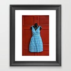 Fashionable Door Framed Art Print
