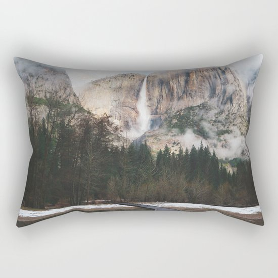 Yosemite Falls at Winter | Yosemite National Park, California Rectangular Pillow