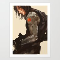 bucky Art Prints featuring Bucky Cover by MMCoconut
