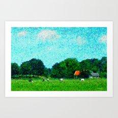 Landscape near Duivendrecht Art Print