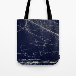 Blue Marble Crease Texture Design Tote Bag
