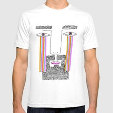 Rainbow Tears Mens Fitted Tee White SMALL