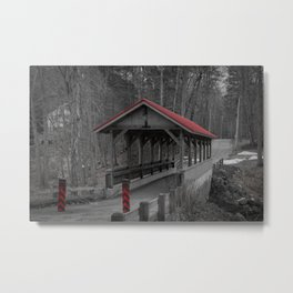 Old Stage Road Romantic Enclosure Covered Bridge Hampton New Hampshire Taylor River Metal Print