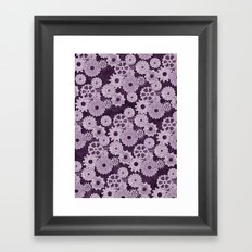 Painted Gears Framed Art Print