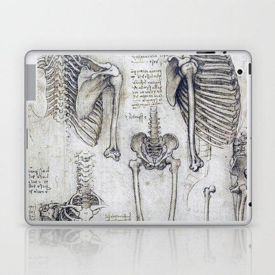 Leonardo Da Vinci Human Body Sketches Laptop Ipad Skin By