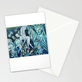 Statue of Liberty Underwater Stationery Cards