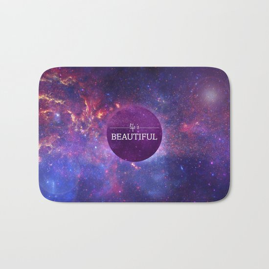 Life is Beautiful Bath Mat