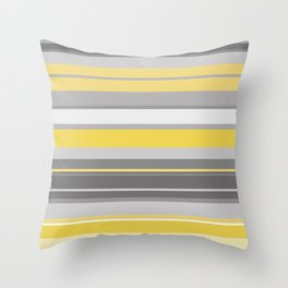 yellow and grey horizontal Throw Pillow
