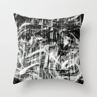 destiny Throw Pillows featuring Destiny  by Irène Sneddon