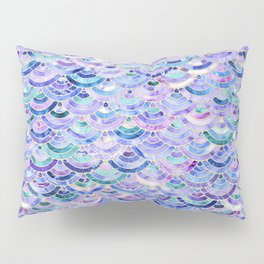 Marble Mosaic in Amethyst and Lapis Lazuli Pillow Sham