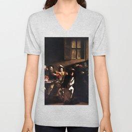 Caravaggio The Calling of Saint Matthew Unisex V-Neck