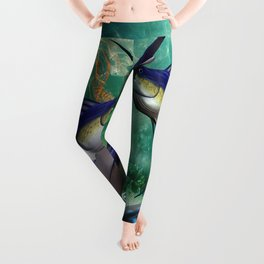 Awesome marlin with jellyfish Leggings
