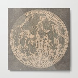 Antique Moon Metal Print