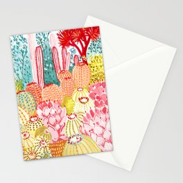 Sorbet Cactus Garden Stationery Cards