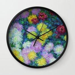 "Claude Monet ""Chrysanthemums"", 1897 Wall Clock"