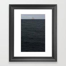 sails over waves Framed Art Print