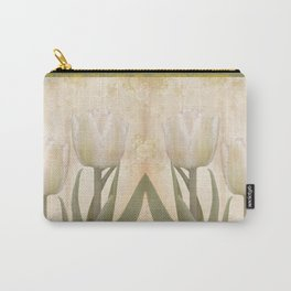 Painterly tulips with golden water splashes, vintage look Carry-All Pouch
