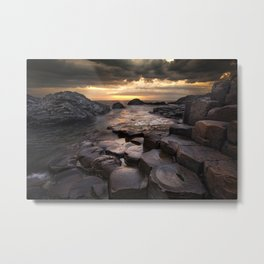 The Giant's Causeway, County Antrim, Northern Ireland Metal Print
