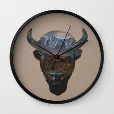 Bison Peak Wall Clock