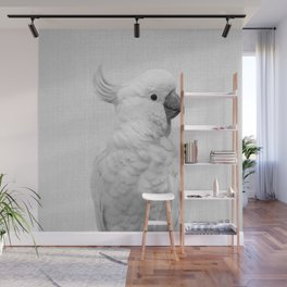 White Cockatoo - Black & White Wall Mural