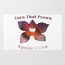 Turn that frown upside down Rug