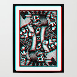 Suicide King Anaglyphic Poster