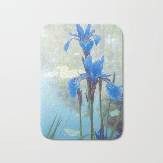Blue Iris, The Dancing Spirit Of Early Summer Bath Mat