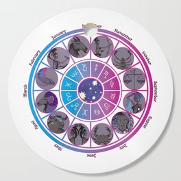 Starlight Zodiac Wheel Cutting Board