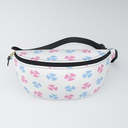 geometric flower 75 blue and pink Fanny Pack