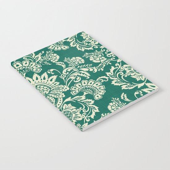 Damask vintage in green Notebook