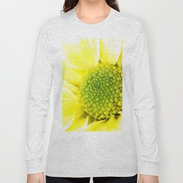 Yellow Daisy Macro Nature Photography Long Sleeve T-shirt