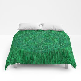 Zelda Green Art Triforce Comforters