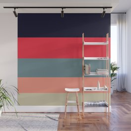 Candy Floss Colorful Color Block Minimalist Stripes Pattern Wall Mural