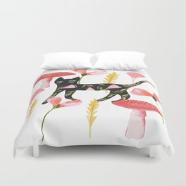 Chat & Champignons Duvet Cover