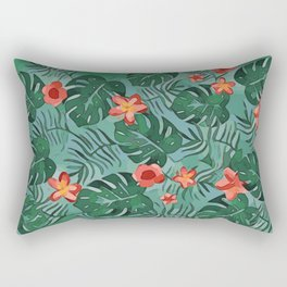 Exotique Floral Design Rectangular Pillow