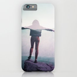 Soaring over the Smoky Mountains - Film double exposure photograph iPhone Case
