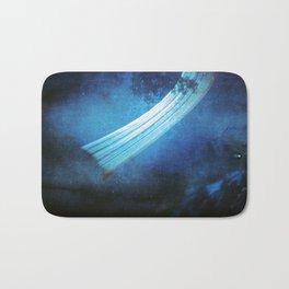 deep blue (pinhole camera) Bath Mat