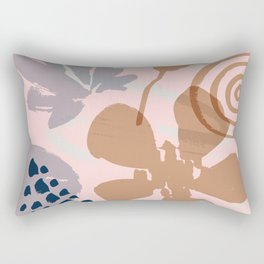 Abstract Leaves and Flowers III Rectangular Pillow