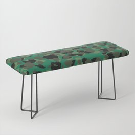 Emerald Leopard Spots Bench