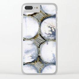 WATERCOLOUR DISCS: White Howlite (detail ) Clear iPhone Case