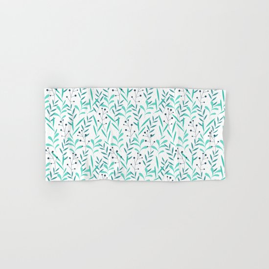 Leaves Pattern Hand & Bath Towel