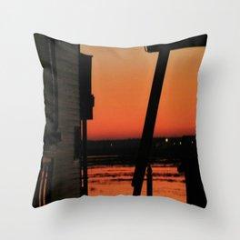 Restoring The Jersey Shore Throw Pillow