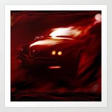 Flaming Alfa Gtv 916 Art Print