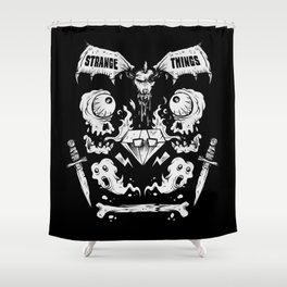Ghouls, Ghosts, Gems & Daggers Shower Curtain