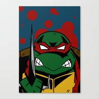 ninja turtle Canvas Prints featuring Ninja Turtle by Mirko Martorello