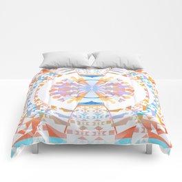 Rainbow Earth Souls Healing Mandala Comforters
