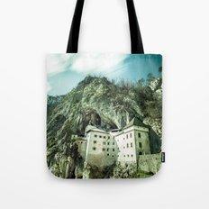 Majestic Predjama Castle Tote Bag