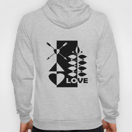 Scandinavian black and white abstract pattern . Hoody