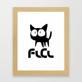 FLCL - Cat Framed Art Print