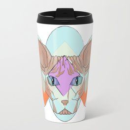 Geometric Hairless Cat Travel Mug